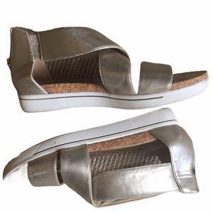 Adrienne Vittadini Metallic Sandals